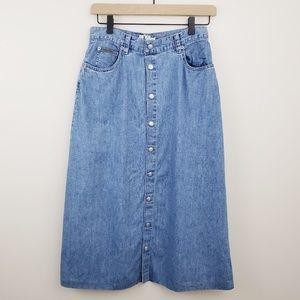 Vintage Calvin Klein Button Down Skirt